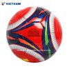 Différentes tailles de cuir durable en PVC rouge ballon de soccer
