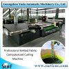Tejido de corte automático de corte textil imagen modelo de la máquina en la industria Garmant