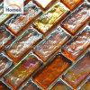 Mattonelle di mosaico di vetro Iridescent della pera multicolore arancione di riserva