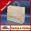 Plegable crear la bolsa de papel para requisitos particulares de las compras con el precio de fábrica (2136)