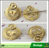 Metal Gold Military Pin Badge Custom
