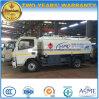 O caminhão de tanque 5000L do petróleo de Dongfeng 4*2 reabastece o caminhão de petroleiro para a exportação