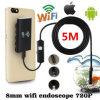 Fabrik preiswertester WiFi Endoscope 2017, wasserdichte Endoskopiekontrolle-Kamera, Schlange-Kamera 720p mit 6 LED für Android und iPhone