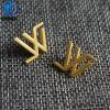 Etiqueta maçante feita sob encomenda profissional de nível elevado do logotipo do metal da ferragem da bolsa do ouro para o saco/bolsa/chapéu/vestuário