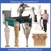router di legno di scultura di legno di legno di asse della macchina 4 del tornio della macchina della fresatrice 3D di CNC 3D