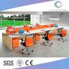 Het moderne Werkstation cas-W1814 van het Bureau van de Lijst van de Computer van 6 Zetels Oranje