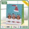 Navidad Owl Hohoho azul bolsa de papel de regalo