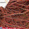 Verdrehtes Silk Netzkabel, 5mm, silbernes Grau-Satin-Seil