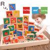 Il giocattolo di legno di domino del regalo di formazione dei bambini scherza i blocchetti di alfabeto