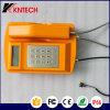 Telefone resistente Knsp-18LCD do tempo de Kntech