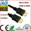 Мужчина HDMI куртки PVC к мыжскому кабелю HDMI (SY085)