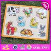 2015 Nouveau Animal Puzzle en bois jouet, Puzzle en bois 3D, de jouets en bois jeu de puzzle en 3D, jeu de puzzle en bois jouet W14M088
