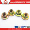 ISO4161 Class4.8 색깔 Zinc-Plated 육 플랜지 견과