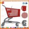 良質のスーパーマーケットのプラスチックPlastomerのショッピングトロリーカート(Zht98)
