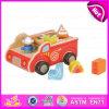 Brinquedo de madeira com blocos, brinquedo de madeira do carro de 2015 miúdos mini do carro das crianças Multifunctional, brinquedo de madeira do carro dos desenhos animados com coligações políticas W12D023 do bebê