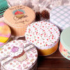 Contenitore variopinto di latta regolato per i biscotti/commercio all'ingrosso cioccolato/del biscotto