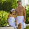 Omslagen van uitstekende kwaliteit van het Bad van de Douche van de Katoenen de Witte Kleding van de Douche Hotel/SPA