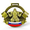 Medalla de oro barata de encargo del levantamiento de pesas del diseño 3D