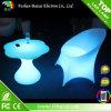 호화스러운 빛난 플라스틱 LED 높은 테이블