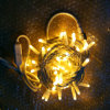 la chaîne de caractères de Noël de décoration de vacances de 2000mohm DEL allume le câble en caoutchouc