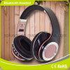 Preto sobre o ruído de alta fidelidade do Headband da orelha que cancela o auscultadores de Bluetooth