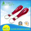 Keyrings personalizados bonitos Eco-Friendly do silicone Keychains/com logotipo impresso