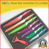 Ножи кухни нержавеющей стали установили с красить для кухни (RYST0139C)