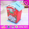 2015 Nueva caja de ahorro de madera para niños, caja de ahorro de dinero de juguete de madera para niños, caja de ahorro de moneda de alto rendimiento para el bebé W02A027