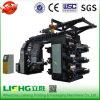 Type de pile 6 couleurs Double Face Film Machine d'impression flexographique