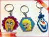 Trousseau de clés en caoutchouc de Rubbe de promotion de trousseau de clés de dessin animé