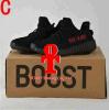 2017 originais Yeezy barato 350 mulheres dos homens das sapatas Running do impulso V2 8 sapatas novas dos esportes do branco 2016 pretos das cores Sply-350 Yeezys com caixa Kanye West