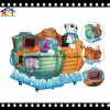 Vendita diretta della video del panda della barca del Kiddie fabbrica di giro