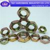Haute qualité DIN934 l'écrou hexagonal plaqué zinc jaune