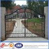 Puerta de jardín de aluminio fundido decorativo / Puerta de patio de hierro forjado