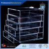 Caisse de bijou/cadre mémoire acryliques clairs de produits de beauté