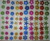 반짝임 EVA 꽃 스티커 유아는 DIY 장난감 수수께끼를 원조한다