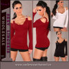 Atacado Sexy Shirt Long Sleeves Sexy Women Tops (25119)
