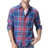 Camicia di vestito casuale dal cotone dei plaid di vendita del Mens caldo di modo