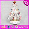 2015 Промо деревянные музыку в салоне, White Christmas музыкальные карусели музыку в салоне, оптовая дешевые белой деревянной музыка игрушка W07b007c