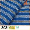 폴리에스테 가정 직물 본래부터 방연제 내화성이 있는 파란 줄무늬 소파 직물