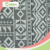 Vía 100% poliéster de alta calidad tela de encaje geométrico