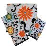 綿のベロアによって印刷される花の浴室タオル