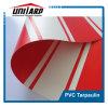 Het rode Witte Gestreepte Geteerde zeildoek van de Kleur van pvc 450GSM 1100dex