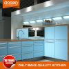 De bouw van de Kasten van de Keuken met Blauwe Melamine voor Verkoop