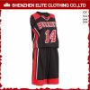 Формы баскетбола молодости Dri черной конструкции подходящие изготовленный на заказ