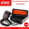 50W het UHFVoertuig Mobiele Radio vr-6600PRO van de FM van de Band van VHF Dubbele Draadloze Amateur Waterdichte