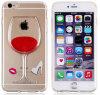 3D refroidissent la caisse liquide dynamique claire de tasse de vin rouge pour iPhone6/6plus