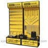 Подгонянное промотирование електричюеских инструментов Pegboard логоса стальное кладет стойку на полку индикации