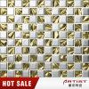 Мозаика плакировкой металла смешивания цвета серебра и золота стеклянная