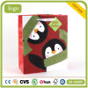 Bolsa de papel revestida del regalo del arte rojo de la manera del pingüino